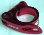 Abraçadeira Venzo 31.8mm p/ Canote 27.2 - Vermelha