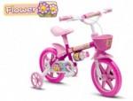 Bicicleta Aro 12 Feminina - Flower Pink
