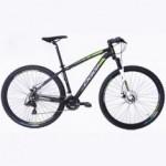 Bike Oggi Hacker Sport Aro 29 21V Freio a Disco Preta/Verde