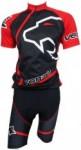Conjunto Venzo Camisa e Bermuda - Preto e Vermelho