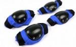 Kit Infantil Joelheira E Cotoveleira Refactor Kids Azul