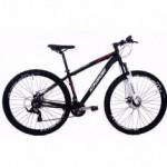 Bike Oggi Hacker Sport Aro 29 21V Freio a Disco Preta/Laranja