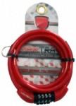 Cadeado Espiral com Segredo 6X1000mm Vermelho