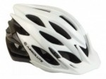 Capacete Ciclismo Bike Absolute Wild Branco Preto Led Pisca